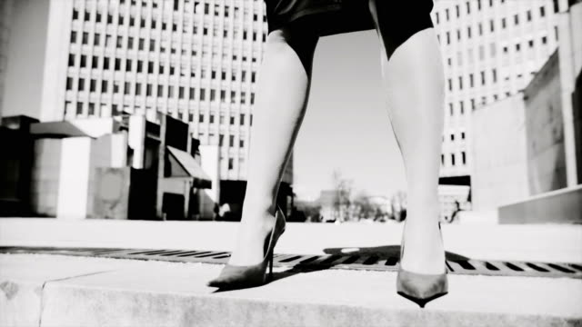hd dolly: woman in the business world - human foot stock videos and b-roll footage