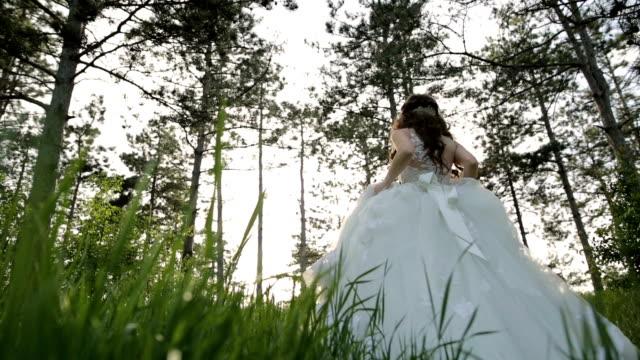 woman in wedding dress - runaway stock videos and b-roll footage