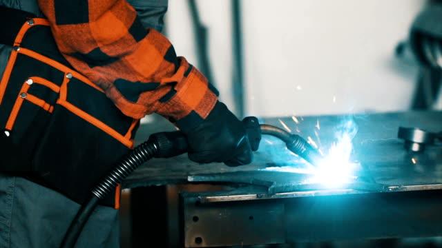 woman in workshop - welding stock videos & royalty-free footage