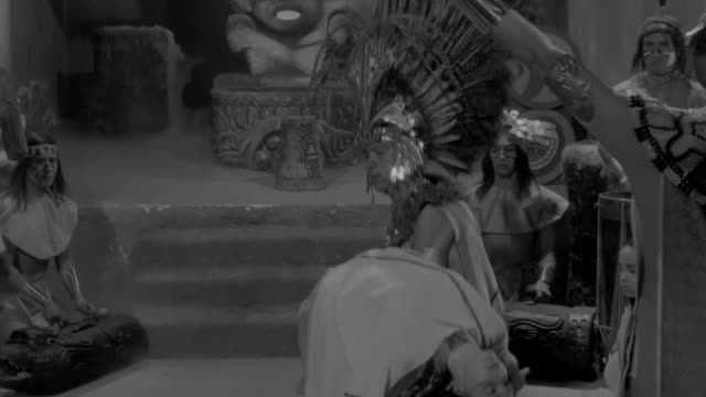 a woman is scarified during an ancient aztec ritual ceremony - aztec stock videos & royalty-free footage