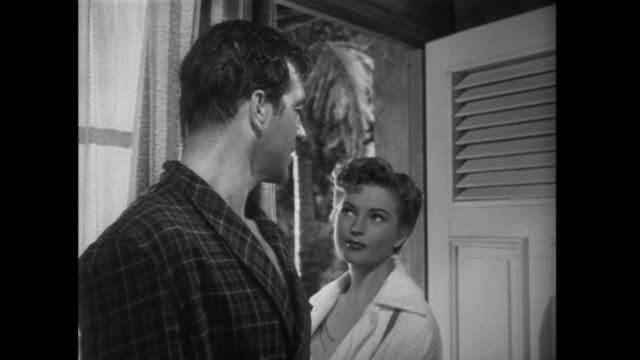 1952 a woman is suspicious of her love interest - 1952 stock videos & royalty-free footage