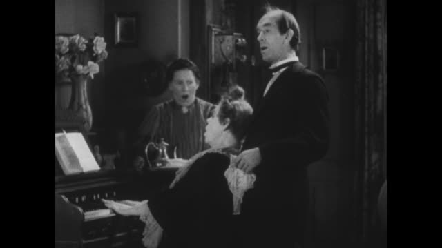 1929 a woman is upset when she finds her friend and the reverend drunk - 1920 1929 stock videos & royalty-free footage