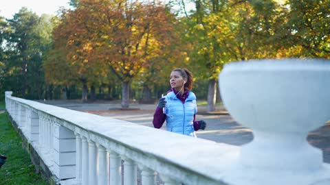 woman jogging in the park - one mid adult woman only stock videos & royalty-free footage