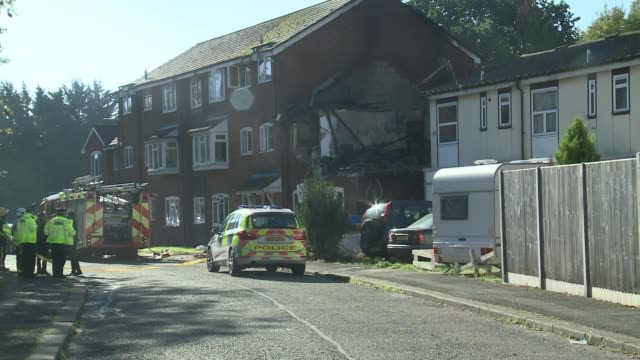 Woman killed in suspected gas explosion in Harrow UK London Harrow destroyed house firefighters and gas workers at scene neighbour interviews London...