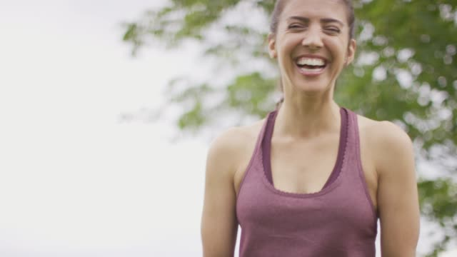 woman laughing and smiling - beautiful woman stock videos & royalty-free footage