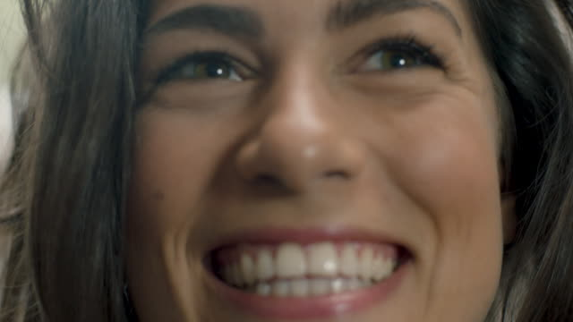 woman laughing - human face stock videos & royalty-free footage