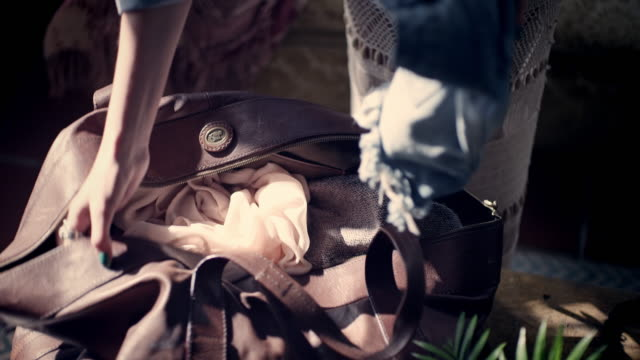 woman leaving home - bag stock videos & royalty-free footage