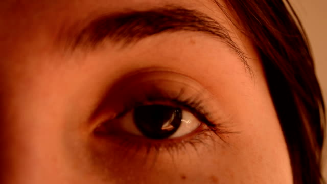 woman left eye - body care stock videos & royalty-free footage