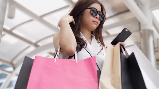 woman lifestyle - shopping bag stock videos and b-roll footage