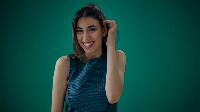 woman looking at camera laughing feels happy - headshot stock videos & royalty-free footage