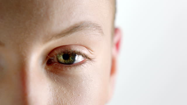 woman looking at camera - green eyes stock videos and b-roll footage