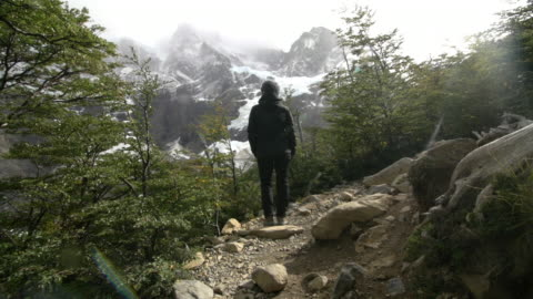 woman looking at the landscape at the french valley - valley stock videos & royalty-free footage