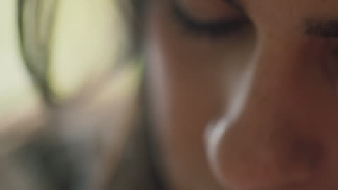 woman looking down - blurred motion stock videos & royalty-free footage