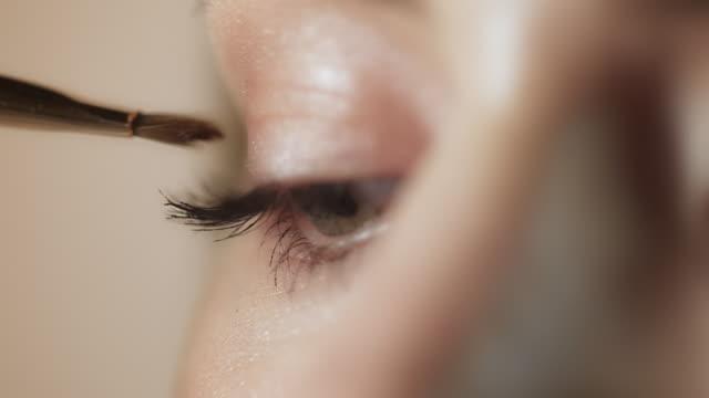 Woman makeup closeup