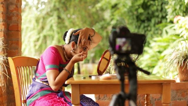 Woman Making a DIY Video