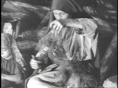 1923 reenactment woman making basket in biblical times - 1923 stock videos & royalty-free footage