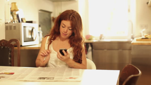 woman marking job advertisements in newspaper - job search stock videos & royalty-free footage