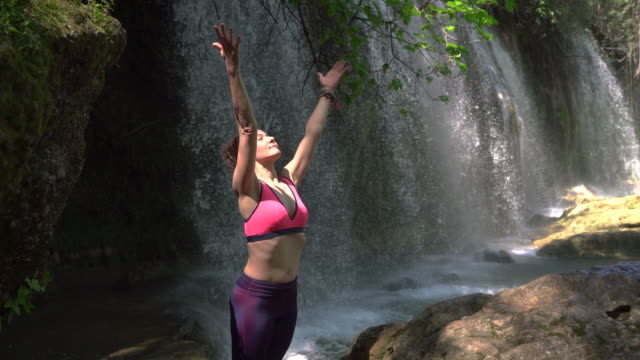 woman meditating - ozgurdonmaz stock videos and b-roll footage