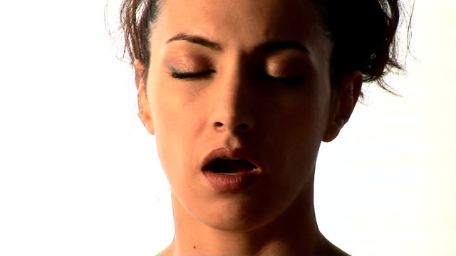 woman meditating - chanting stock videos and b-roll footage