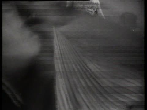 b/w woman modeling evening gown / sound - haute couture stock videos and b-roll footage