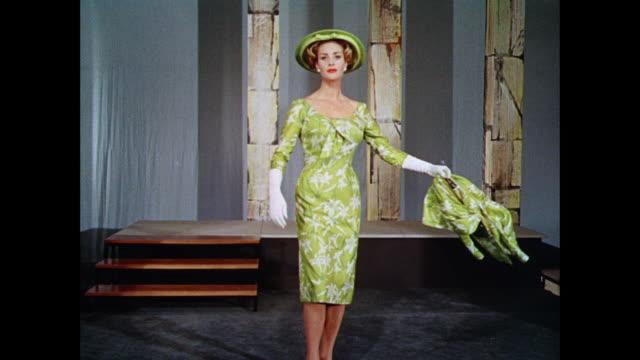 vídeos y material grabado en eventos de stock de montage woman models british sheath dresses / uk - vestido tubo