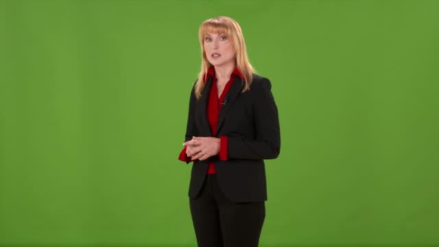 HD: Woman Moderating TV Show
