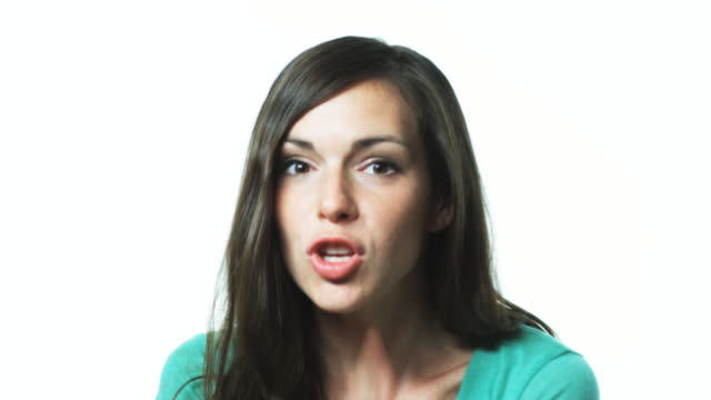 woman motioning to camera - beckoning stock videos & royalty-free footage
