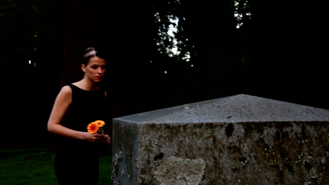 woman mourns at grave - mourner stock videos and b-roll footage