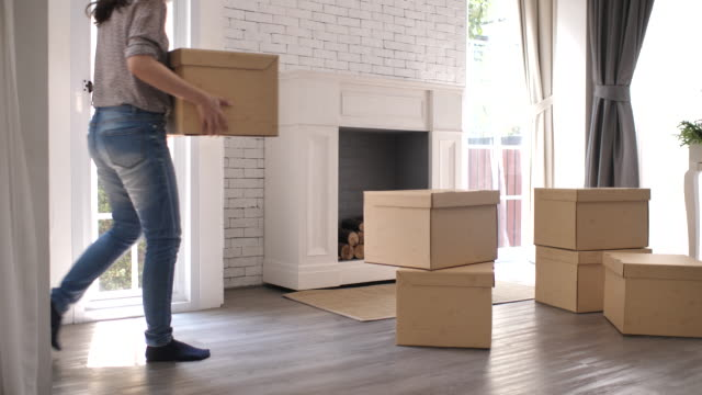 woman move to new home