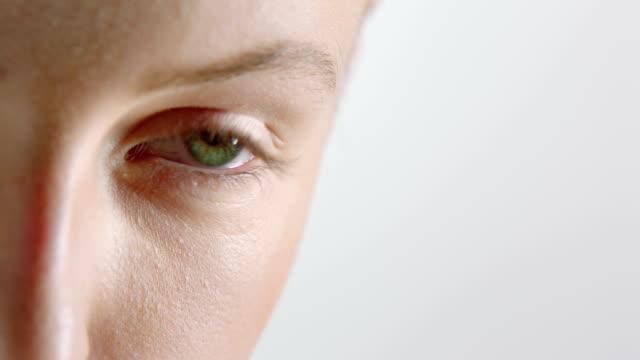 Woman moving eye