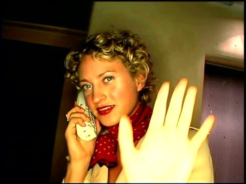 vídeos de stock e filmes b-roll de woman on telephone - telefone sem fio