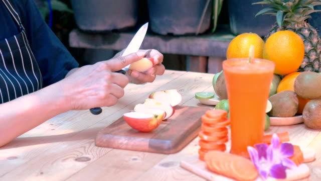 woman peeling apples - peeling food stock videos & royalty-free footage