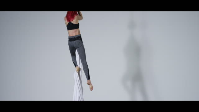woman performing aerial silk - wide screen stock videos and b-roll footage