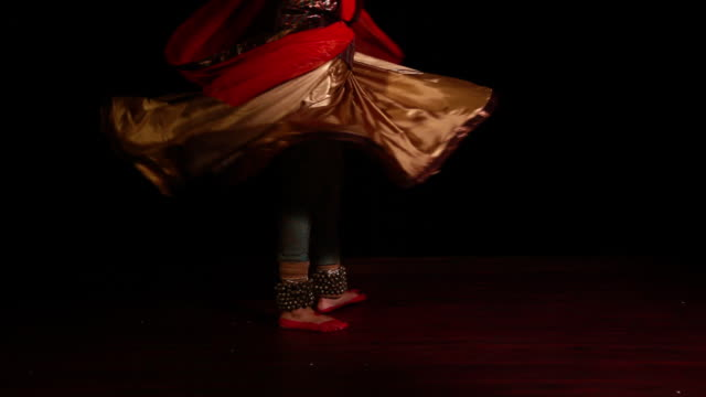 woman performing kathak dance on the stage  - classical style stock videos & royalty-free footage