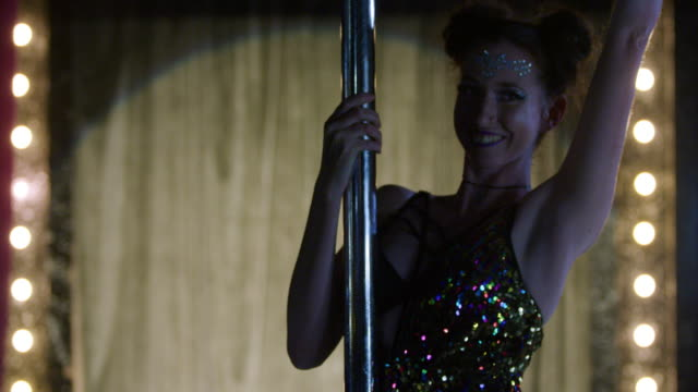 woman performing pole dance - cabaret stock videos & royalty-free footage