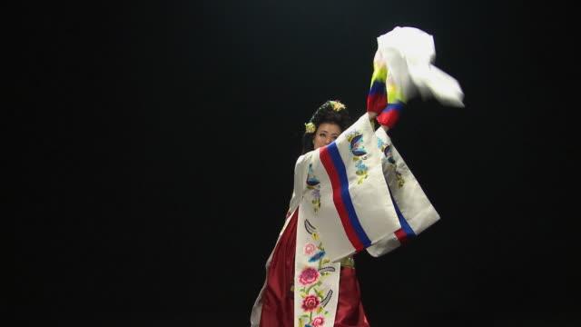 MS Woman performing traditional dance 'Taepyongmu' / Seoul, South Korea