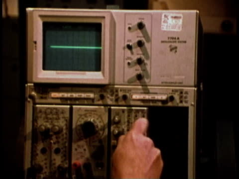 1979 MONTAGE woman performs task of calibrating computer and related machines/ United States
