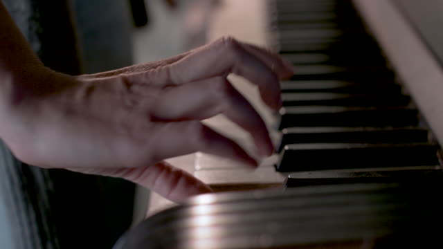 woman playing piano - piano stock videos & royalty-free footage