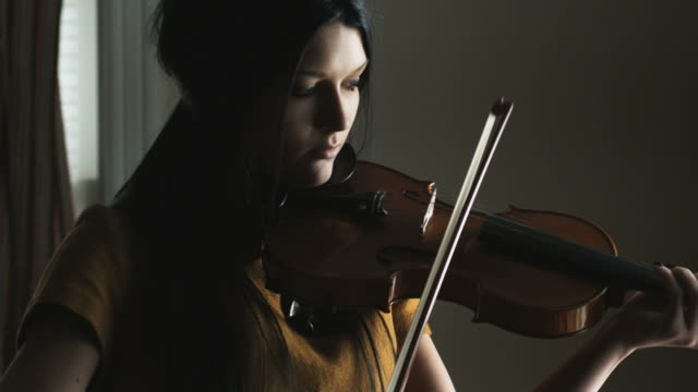 woman playing the violin - classical stock videos & royalty-free footage