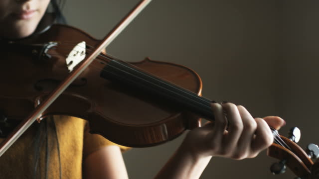woman playing the violin - musician stock videos & royalty-free footage