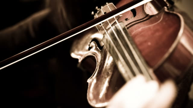 woman playing violin in symphony orchestra - classical stock videos & royalty-free footage