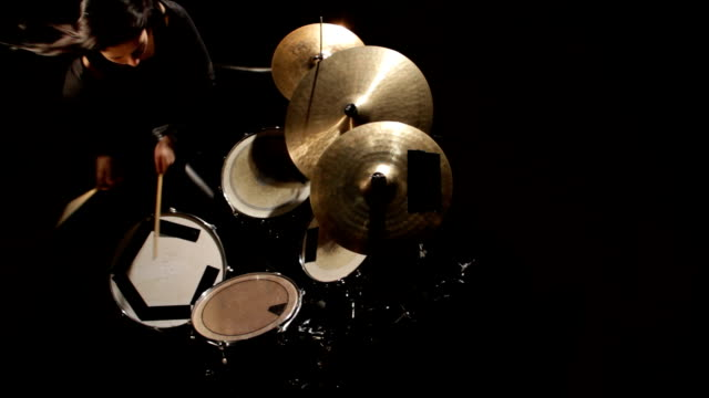 woman plays drums - drum kit stock videos & royalty-free footage
