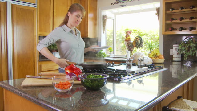 woman preparing meal