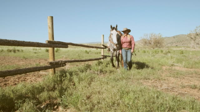 Woman Rancher and Horse