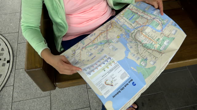Nyc Subway Map Paper.58 Nyc Subway Map Video Clips Footage Getty Images