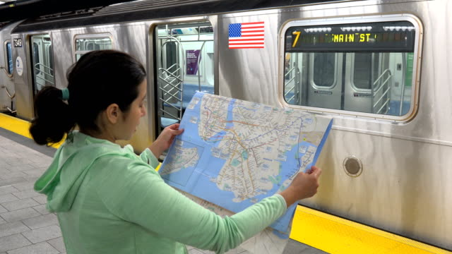 Ny Subway Map 7 Train.80 Top Subway Map Video Clips Footage Getty Images