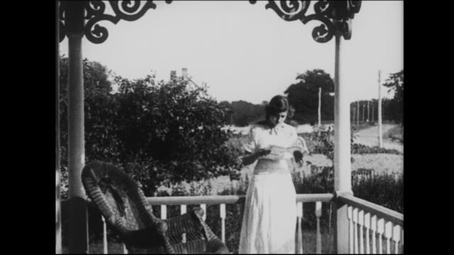 1915 a woman receives a telegram from her fiance - telegram stock videos and b-roll footage
