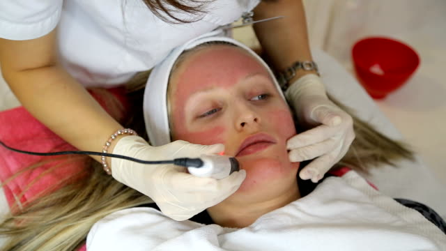 woman receiving mesotherapy - beautician stock videos and b-roll footage