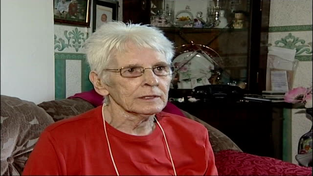 woman recovers eyesight after heart attack joyce urch interview sot talks about her reaction on seeing her husband for first time since recovering... - miracle stock videos & royalty-free footage