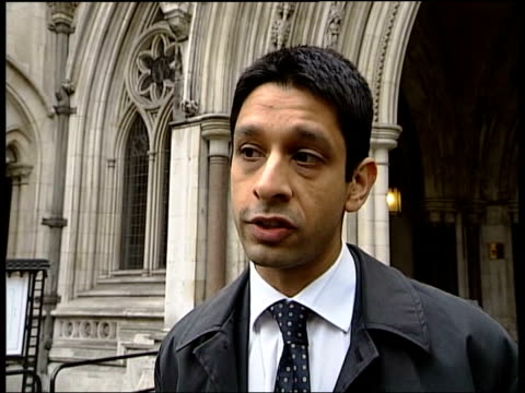 woman refused cancer treatment goes to high court london royal courts of justice yogi amin interview sot it depends where you live which health... - health and safety点の映像素材/bロール